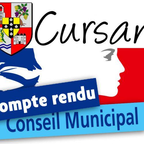 Réunion conseil municipal – samedi 26 juin